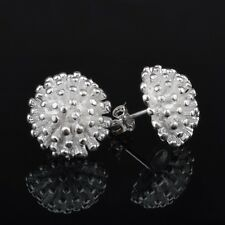 Silver Plated Pair of Stud Earrings. 13mm by 13mm.Womens 925 Sterling