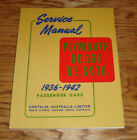 1936 1937 1938 1939 1940 1941 1942 Plymouth Dodge DeSoto Shop Service Manual