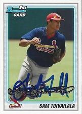 Sam Tuivailala St Louis Cardinals 2010 Bowman Signed Card