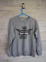vtg  Fruit of loom team vieze medium spell out sweatshirt sweater jumper refA7