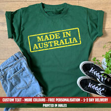 Ladies Made In Australia T Shirt Funny Born Womens National Aussie Birthday Gift