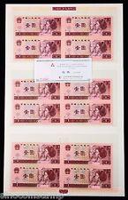 China the 4th Series (1980, 1990 & 1996) Renminbi(RMB) 4-in-1 Uncut 1 Yuan Bills