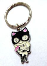 Catwoman Key Chain - or Catgirl Cute kitty in pocket Enamel Us Seller Free Ship