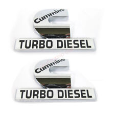 2pcs OEM Cummins Turbo Diesel HIGH OUTPUT Emblem Decal Dodge Ram MOPAR F New