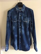 Saint Laurent Paris Distressed Denim Shirt BNWOT