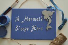 Girls Mermaid bedroom wooden door plaque/sign