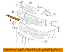 GMC GM OEM Envoy Rear Bumper-Step Pad Protector Scratch Guard Cover 12335704