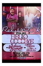 Relient K * 11 x 17 Original Concert Poster Hellogoodbye William Beckett
