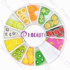 3D Fruit Fimo Nail Art Tips UV Acrylic Decoration  + Wheel IND01-0001
