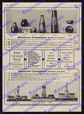 or. Reklame Glas Design Jean Beck Kunstgläser Jugendstil Fa. Diessl München 1911