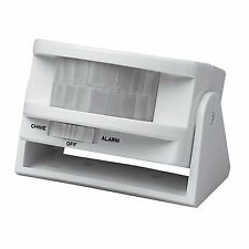Arlec ENTRY DETECTOR Alarm Or Chime Option, Covers 130Deg & 10m Range*Aust Brand