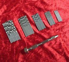 New Swivel Head Pin Vice & 50Pc Micro Drills Craft Model & Jewelery Making Tools