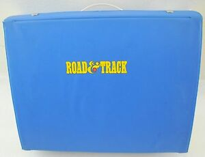 Vintage Road & Track Car Carry Case w/ Cars