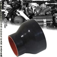 "2.25""-3.5"" Inch Straight Silicone Hose Coupler Reducer Turbo pipe Intake Blk Red"
