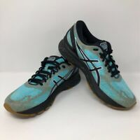 ASICS Womens Gel-Nimbus 21 Running Shoes Green Black 1012A541 Low Top Lace Up 9