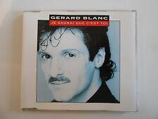 GERARD BLANC : JE SAURAI QUE C'EST TOI [ CD-MAXI PORT GRATUIT ]