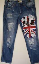 KOSMO LUPO Jeans Hose mit UNION JACK Gr. W 29 Blau, NEU