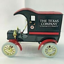Vintage ERTL Texaco 1905 Ford Delivery Car Locking Bank Diecast Collectible MIB