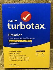 🔥TurboTax Premier 2020 Tax Software, Federal Returns + E-File BEST DEAL!🔥