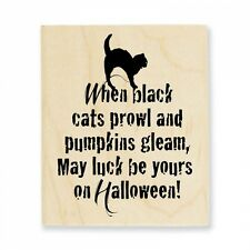 STAMPENDOUS RUBBER STAMPS PROWL HALLOWEEN CAT STAMP
