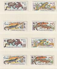 Tschechoslowakei 1989, 3007-3010**, Amphibien, WWF