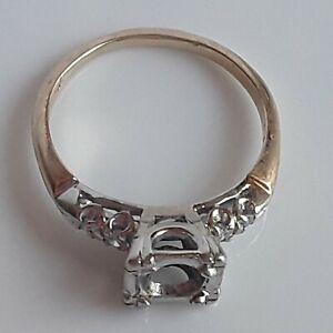 14k Semi Mount Engagement Ring For 0.65 Round Diamond With Diamonds 012 Tcw F-VS
