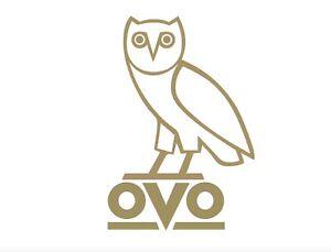 OVO Logo 2-Pack Drake Owl Decal OVO sticker Oracal White Black Gold Drake