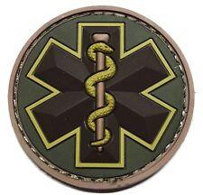EMT STAR 3D PVC EMS MEDIC USA ARMY MORALE MEDICAL MULTICAM HOOK & LOOP PATCH