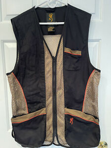 Browning Men's Lightweight Mesh Shooting Vest -Size XL- Adj. Fit