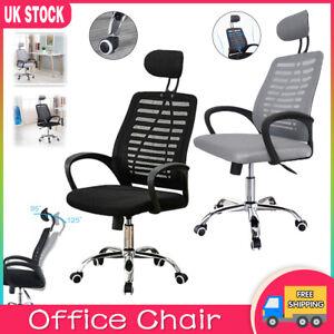 Luxury Ergonomic Mesh Office Chair Adjustable Swivel Executive High Back Chair