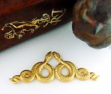 BRASS Motif Double SNAKES ~ SNAKE Stamping Egyptian Jewelry Findings (C-509) *