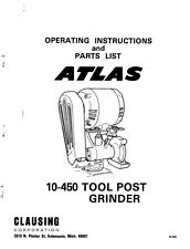 Atlas 10-450  Tool Post Grinder  Instructions