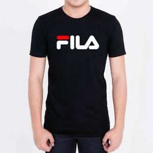Brand New FILA LOGO FAMOUS MEN - Black - L