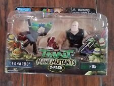 2007 TMNT Mini Mutants Leonardo vs Hun NIB Teenage Mutant Ninja Turtles
