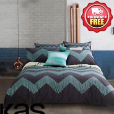 KAS ZIG ZAG Queen size Cotton Sateen Quilt/Doona/Duvet Cover Set