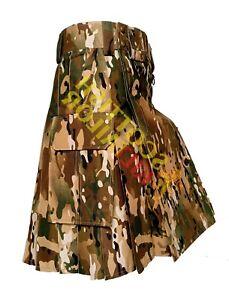 2021 SALE Tactical Duty Kilt Multicam 100% cotton custom Size Wedding  kilts