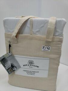 Bee & Willow Home chenille trellis 1 coverlet 90in x 94in Full/Queen