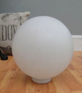 Ball Round Shade for Outdoor Light Fixture 12 inch Diameter Round White Plastic