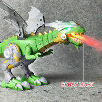 Walking Dragon Toy Fire Breathing Water Spray Dinosaur Christmas Toys AU STOCK