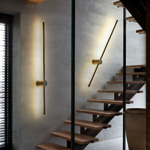 Modern LED Linear Wall Light Long Strip Wall Lamp Sconce for Stairs Bedroom