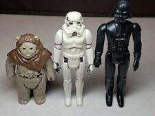 Vintage star wars figures lot - Darth Vader, Stormtrooper, Ewok Chief Chirpa
