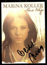 Marina Koller Autogrammkarte Original Signiert## BC 6309