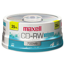 Maxell CD-RW Discs 700MB/80min 4x Spindle Silver 25/Pack 630026