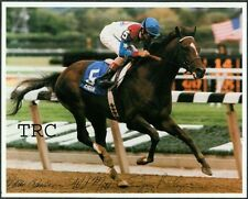 CIGAR & JERRY BAILEY - 8X10 HORSE RACING PHOTO WINNING THE 1995 WOODWARD!