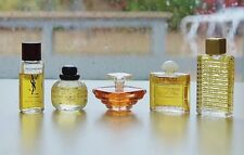 Vintage Yves Saint Laurent 5 miniatures *Opium *Tresor *Paris *Cinema *Ysl Homme