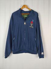 Vintage Olympics 1996 Atlanta XL Blue Starter Jacket Windbreaker Double Sided