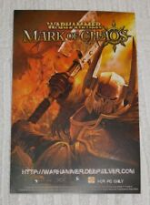 STICKER FOR THE PROMOTION OF THE GAME   *** WARHAMMER - MARK OF CHAOS *** NEW