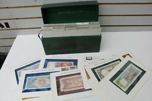 Lot of 35 Banknotes of All Nations, Framed Notes & Stamps Jamaica Brunei & More!