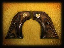 Ruger Aged Oak Grips ~ New Vaquero, Montado, 50Th Anniv + Gold Liberty Eagle