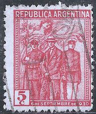 "Argentina Stamp - Scott #379/A116 5c Rose Red ""1930 Revolution"" Canc/LH 1930"